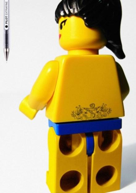 Tatuagem em legos