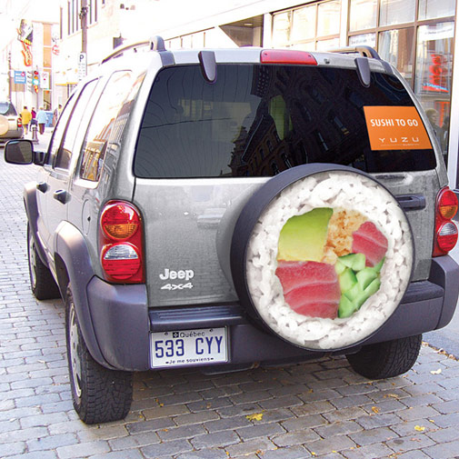 Capa de estepe sushi