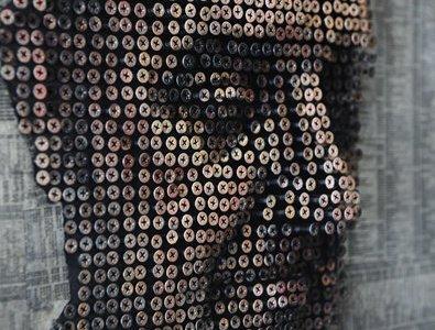 Coisas Legais na Arte – Rostos em Relevo com Parafusos