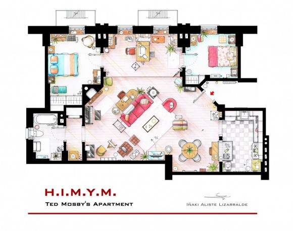 Apartamento de Ted - How I Met Your Mother