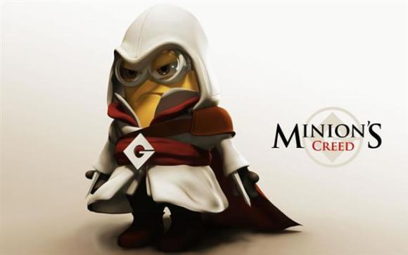 Minions fantasiados - Assassin's Creed