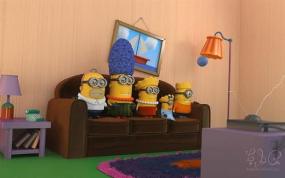 Minions fantasiados - Simpsons