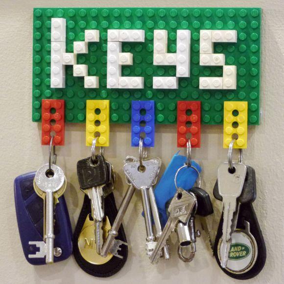 Chaveiro e porta-chaves de Lego