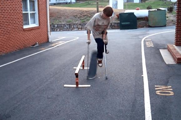 Skate muletas