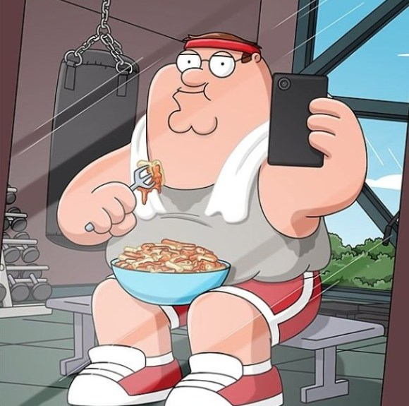 Peter Griffin at Gym