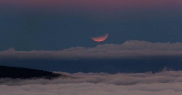 Lua vermelha - Lua de sangue - eclipse da lua - Ilhas Canárias - Espanha