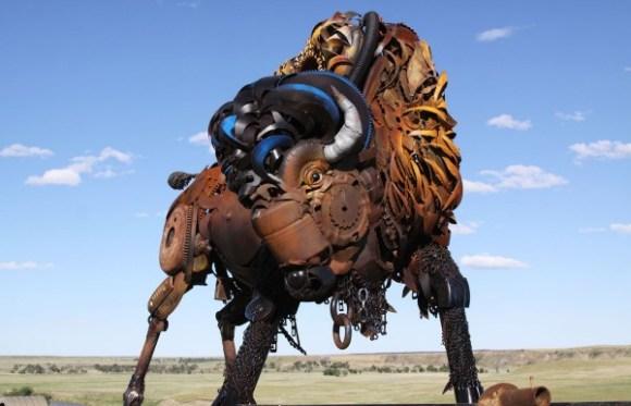 esculturas animais de sucata (2)