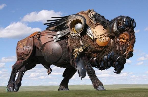 esculturas animais de sucata (5)