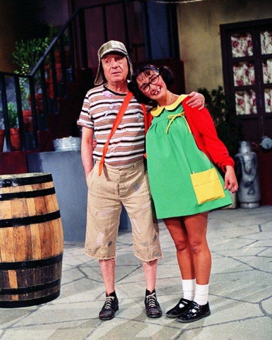Fotos raras - Chaves e Chapolin (2)
