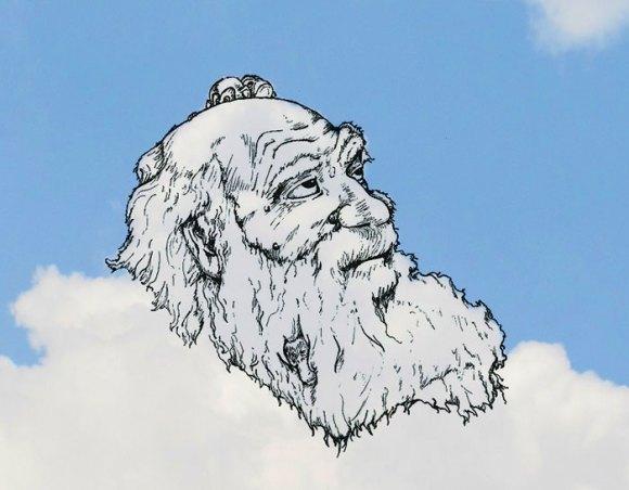Desenho em nuvens - Darwin (1)