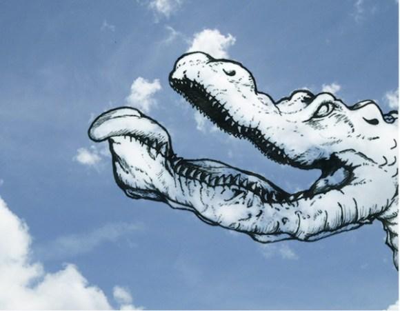 Desenho em nuvens - crocodilo (1)