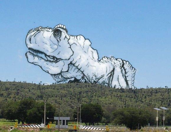 Desenho em nuvens - dino (1)