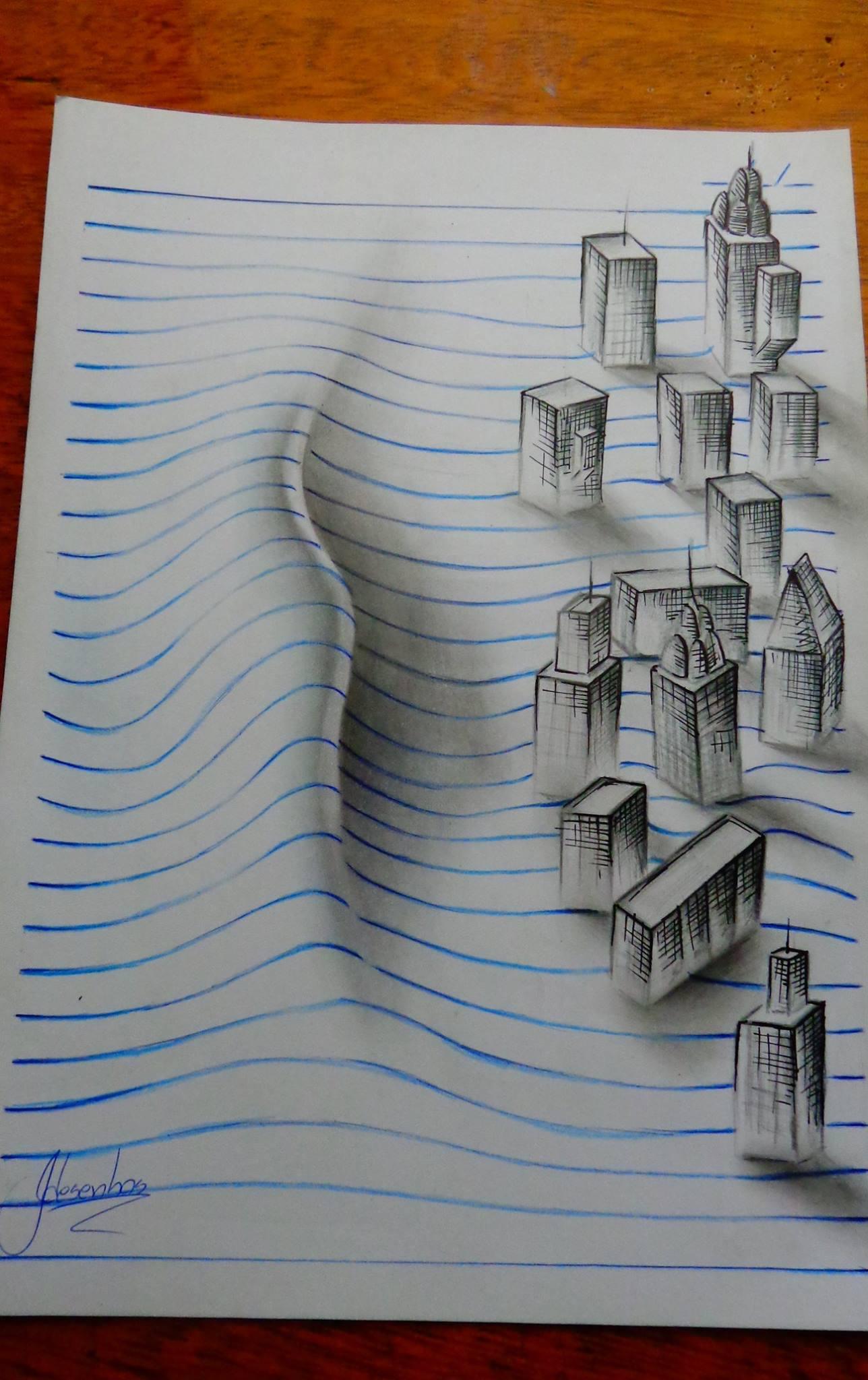 Love Wallpaper Kapal : Jovem desenhista brasileiro faz incriveis desenhos 3D ...