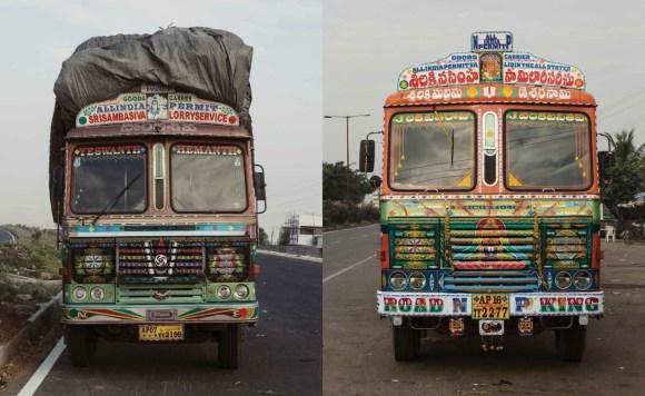 Caminhões decorados da Índia - 20