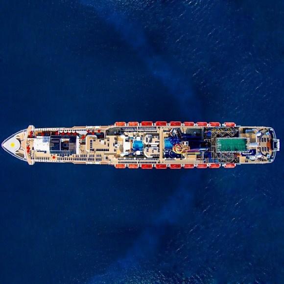 Navio Norueguês próximo à costa da cidade de Nova Iorque - EUA - Fotos aéreas