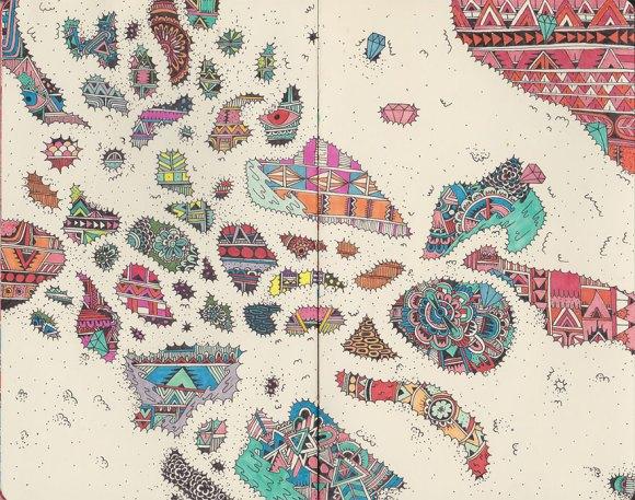 Desenhos detalhados e coloridos 5
