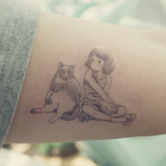 Tatuagens de gatos 1