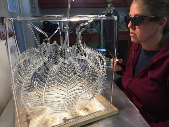Esculturas de vidro - formas marinhas 11