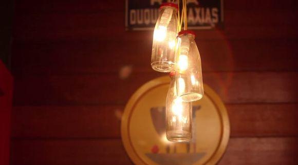 como fazer luminárias com garrafas de vidro