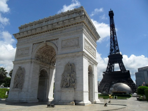 The Eiffel Tower, Arc de Triomphe
