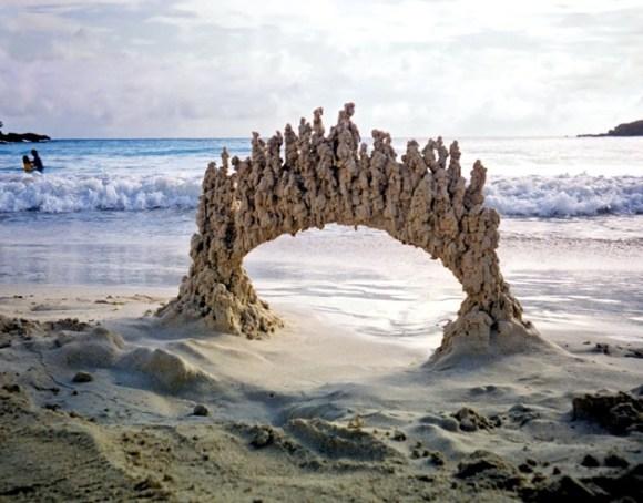 Esculturas de areia diferentes 10