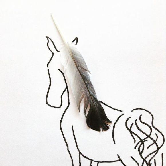 Ilustrações com objetos do cotidiano 3