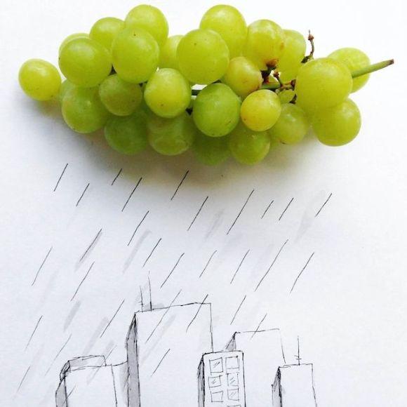 Ilustrações com objetos do cotidiano 5