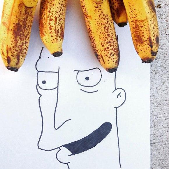 Ilustrações com objetos do cotidiano 7