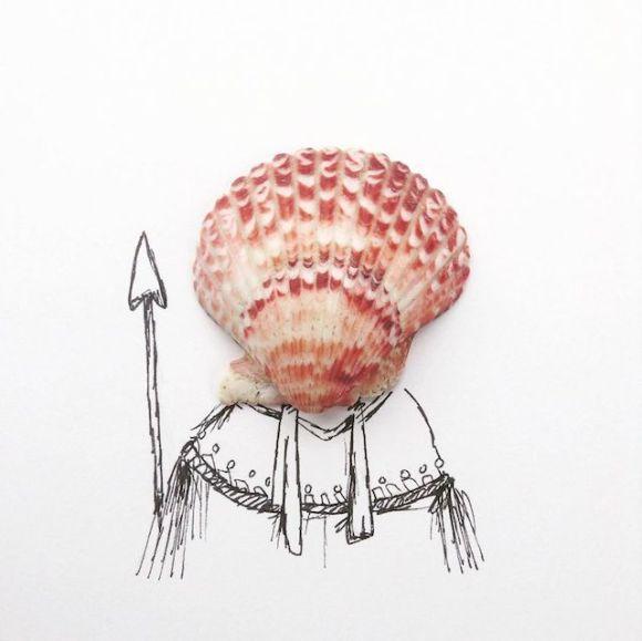 Ilustrações com objetos do cotidiano 9
