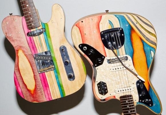 guitarras feitas de Skate 9