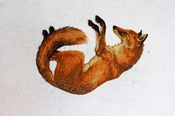 Bordado artístico de animais 4