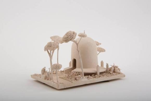 Esculturas futurísticas em cerâmica 14
