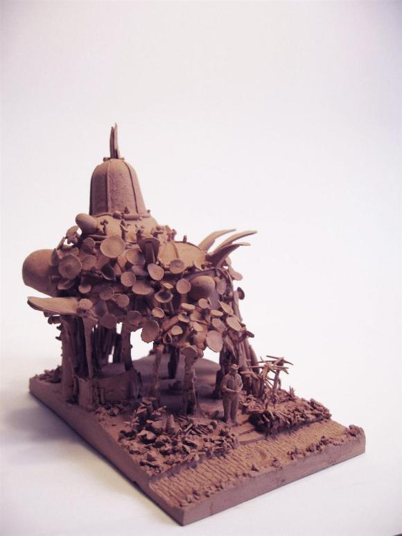Esculturas futurísticas em cerâmica 5