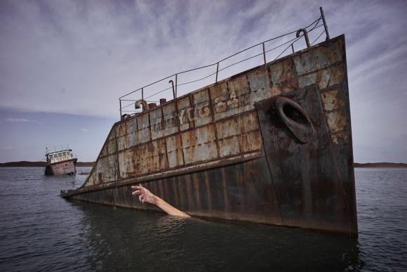 Grafite navio naufragado 2