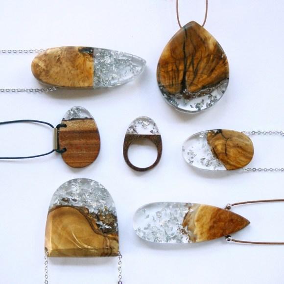Joias de pedaços de madeira 10