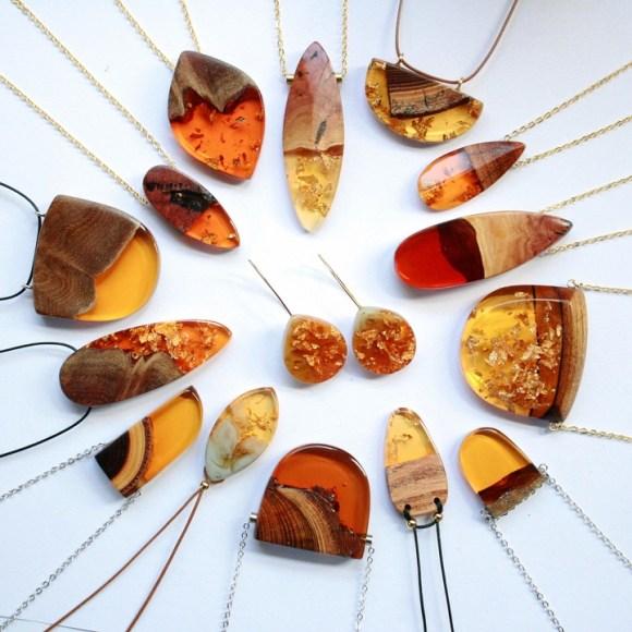 Joias de pedaços de madeira 11
