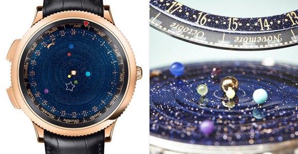 Esse relógio é na verdade um incrível mini planetário de pulso