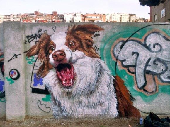 grafite cachorro 1