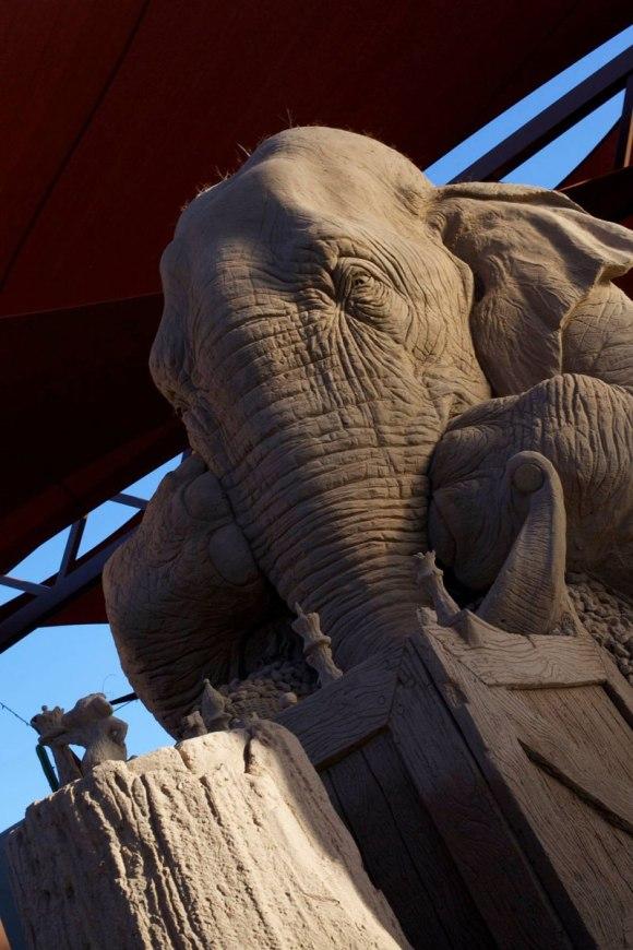 Escultura de areita - elefante 2