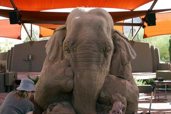 Escultura de areita - elefante 6