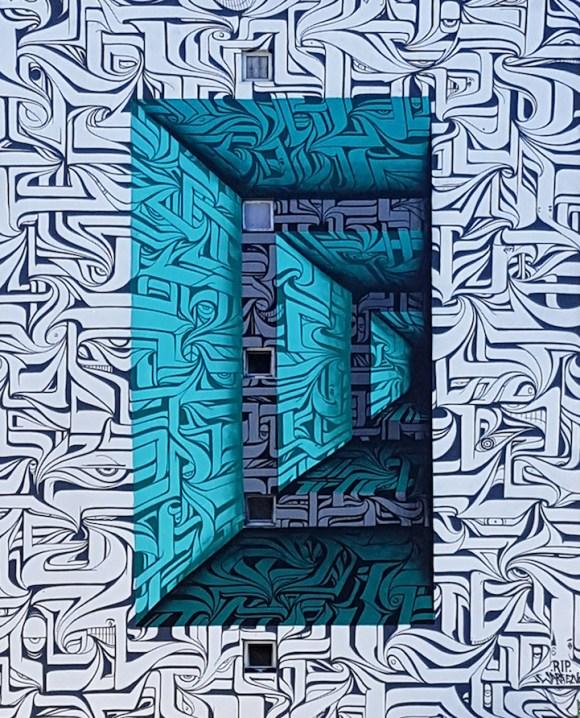 Grafite 3D parece portal 2