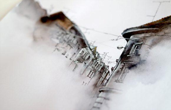 Arquitetura em aquarela 1