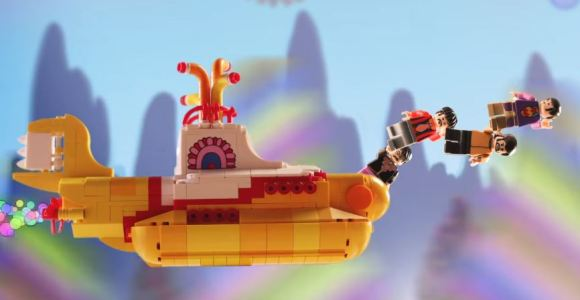O submarino amarelo e os quatro Beatles serão lançados em LEGO
