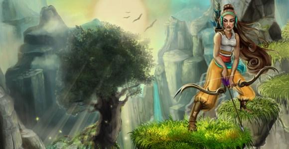 Existe um game brasileiro que tem uma arqueira andino-indígena como protagonista!