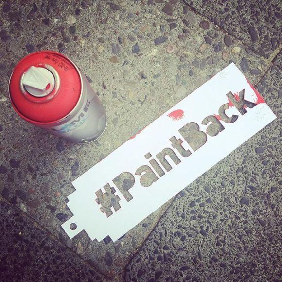 Spray e stencil #PaintBack