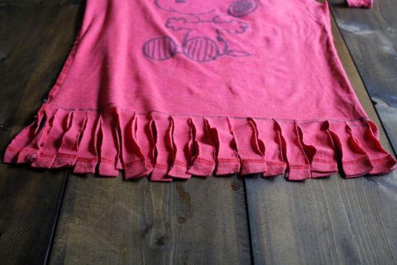 Camiseta com franjas