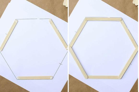 Detalhe de como fazer a hexagonal