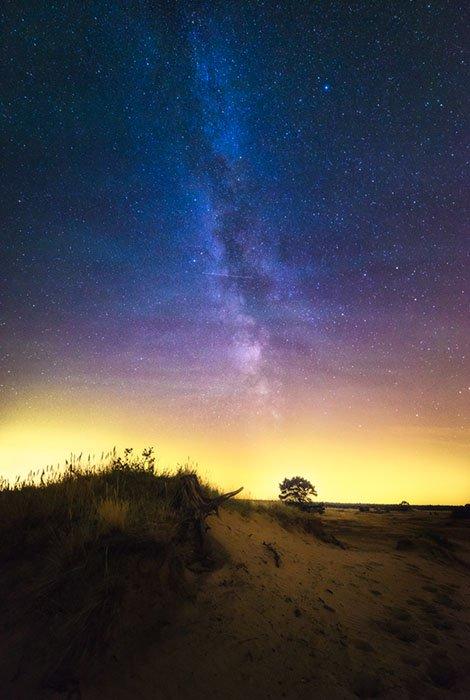 Via Láctea vista de Veluwe