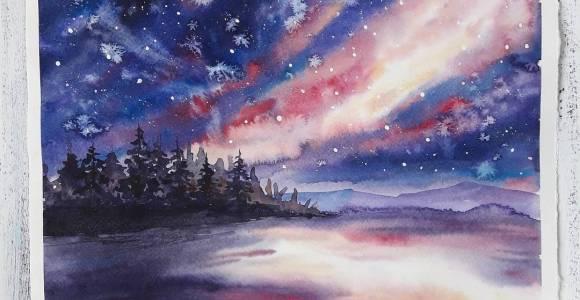 Relaxe e contemple a beleza dessas paisagens pintadas em aquarela