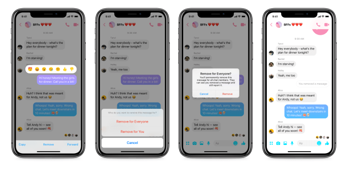 The Social Recap; week 6 - Unsend Messages Facebook Messenger